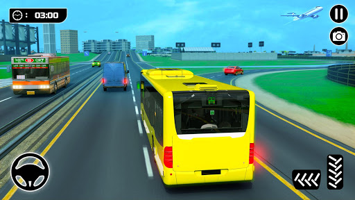 Bus Spiele 2021 Fahrspiel Mega Bus durch die Stadt screenshot 1
