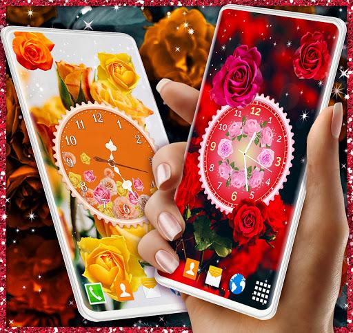 Rose Clock Live Wallpaper 🌹 4K Wallpapers Themes screenshot 4