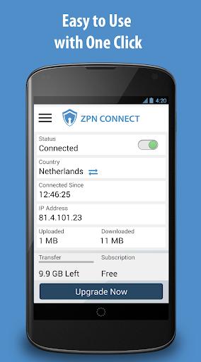 Free VPN Proxy - ZPN screenshot 1