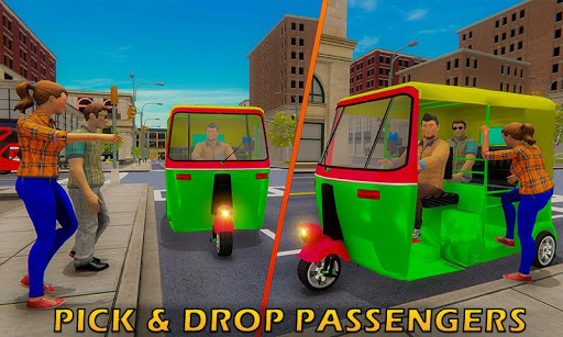Tuk Tuk Driver Offroad Drive: Transport Passenger screenshot 4