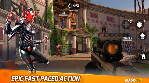 MaskGun - Online multiplayer FPS shooting gun game screenshot 1