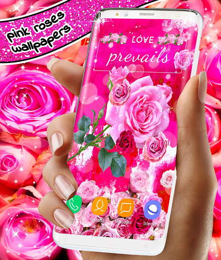 Spring Rose Live Wallpaper 🌹 Pastel Pink Themes screenshot 1