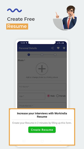 WorkIndia Job Search App - Work From Home Jobs 8 تصوير الشاشة