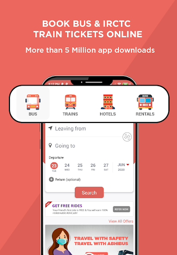 AbhiBus - Fastest Online Bus Ticket Booking App screenshot 1