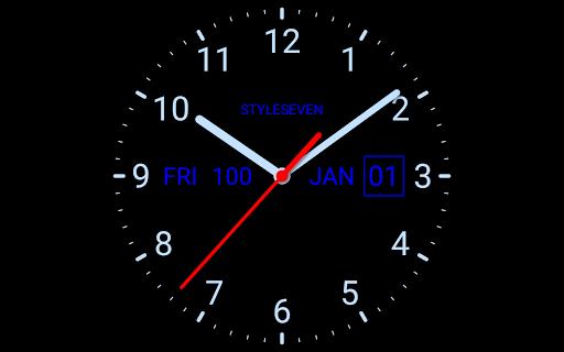 Analog Clock Live Wallpaper-7 screenshot 10