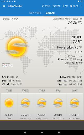 Hava ve saat Widget için Android (Hava durumu) screenshot 14