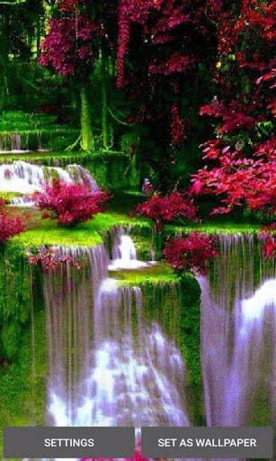 Waterfall Flowers LWP screenshot 1