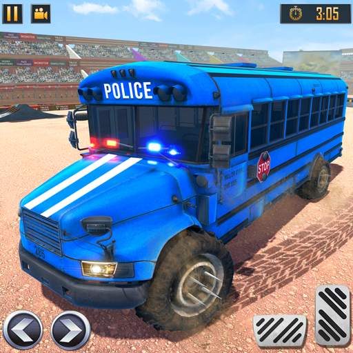US Police Bus Demolition Derby Crash Stunts 2020
