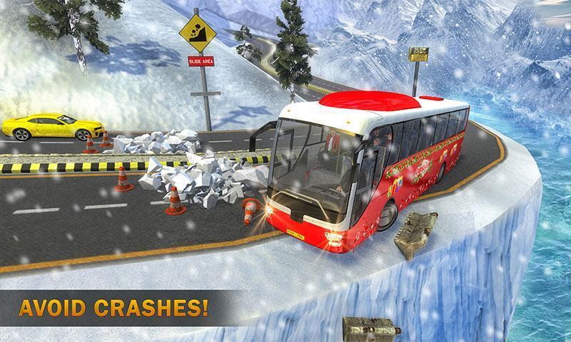 Uphill Bus Drive : Christmas Bus Simulator screenshot 3