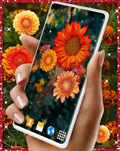 Autumn Flowers 4K Live Wallpaper ❤️ Forest Themes 2 تصوير الشاشة