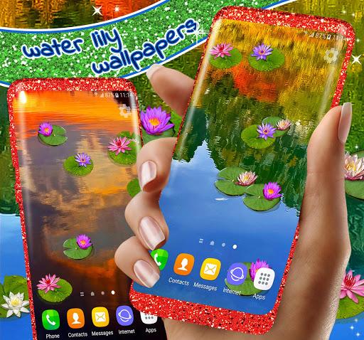 Water Lily Live Wallpaper 🌺 Flowers Wallpapers 2 تصوير الشاشة
