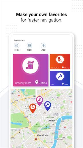 Navegação GPS ao vivo, mapas, direções e explorar screenshot 5