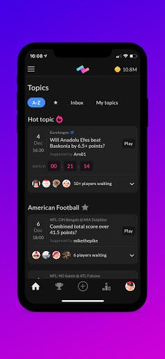 PeerBet - Sports prediction game screenshot 1