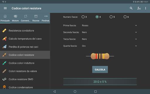 Calcoli Elettrici screenshot 9