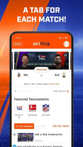 Watch LIVE Cricket & Fast Sports Scores: FanCode screenshot 3