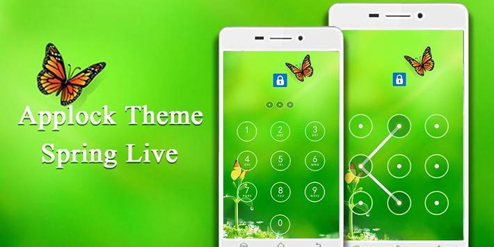 Applock Theme Spring Live screenshot 1