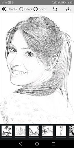 Pencil Photo Sketch-Sketching Drawing Photo Editor स्क्रीनशॉट 3