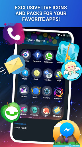 Launcher Live Icons for Android screenshot 3