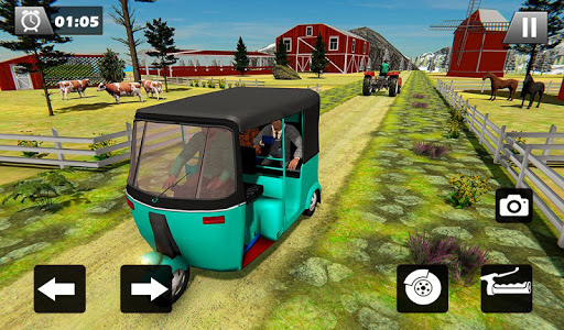 Tuk Tuk Driver Offroad Drive: Transport Passenger screenshot 10