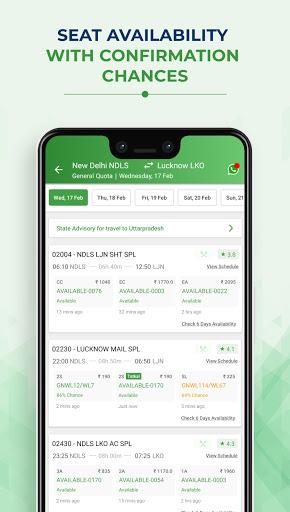 IRCTC Train Booking - ConfirmTkt (Confirm Ticket) screenshot 3