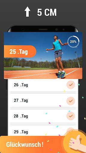 Mehr Körpergröße - Größer werden, Workout zuhause screenshot 5