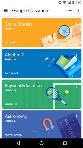 Google Classroom screenshot 1