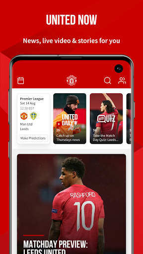 Manchester United Official App स्क्रीनशॉट 1